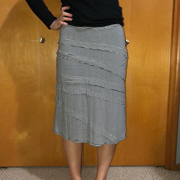 INC International Concepts Dresses & Skirts - INC STRIPED SKIRT